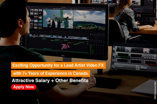 Exciting Job opportunities in Canada for a Lead Artist video FX